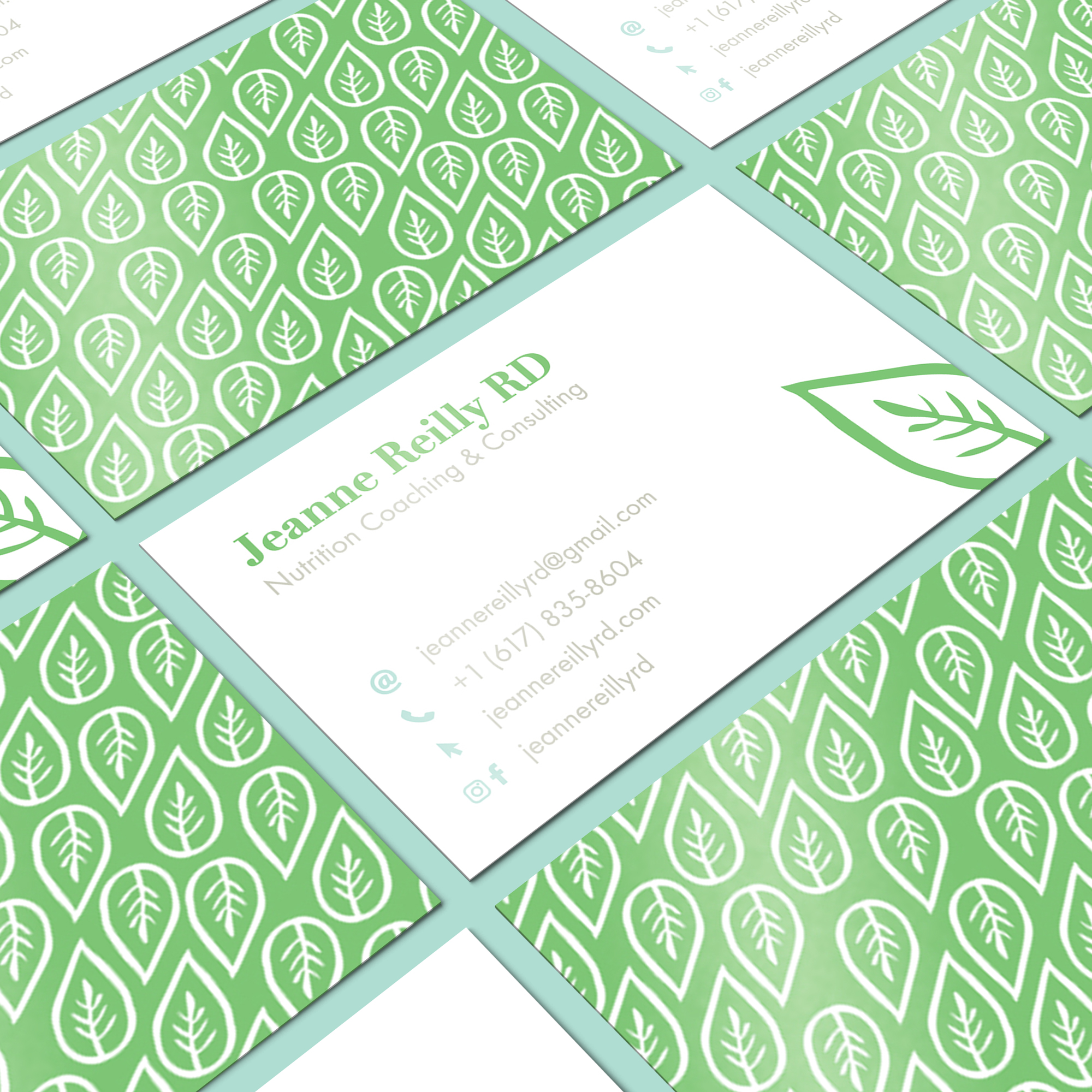 Jeanne Reilly Business Card design